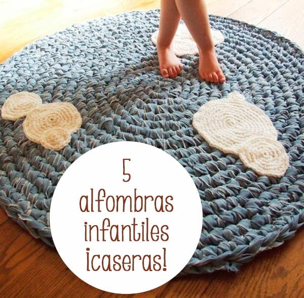 5 alfombras infantiles caseras pequeocio - Alfombras para jugar ninos ...