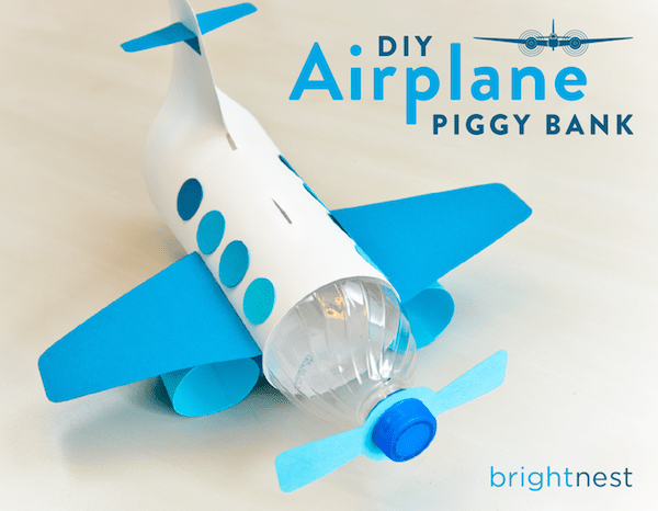 Airplane Craft Plastic Bottle Bank