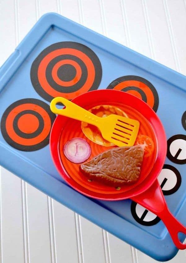 Cómo hacer una cocinita de juguete fácil