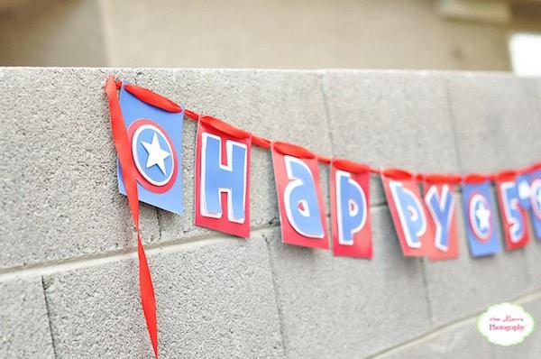 decoración cumpleaños Capitán américa
