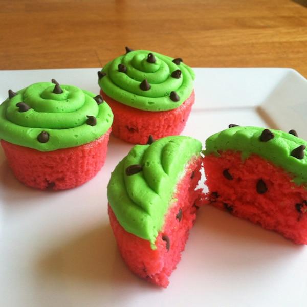 Cupcake de sandía