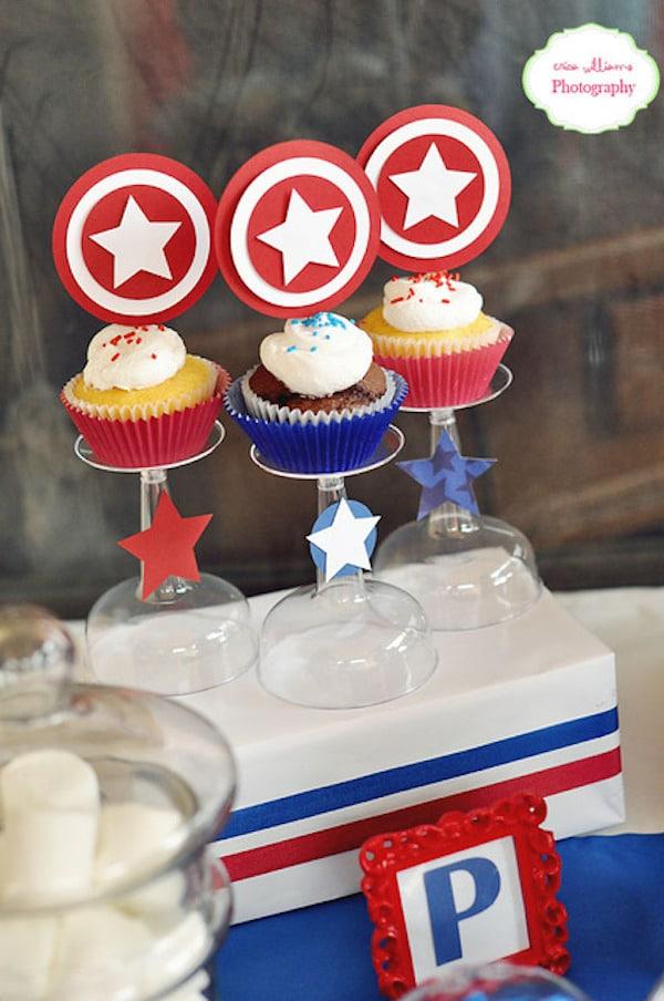 Cumpleaños temático del Capitán América