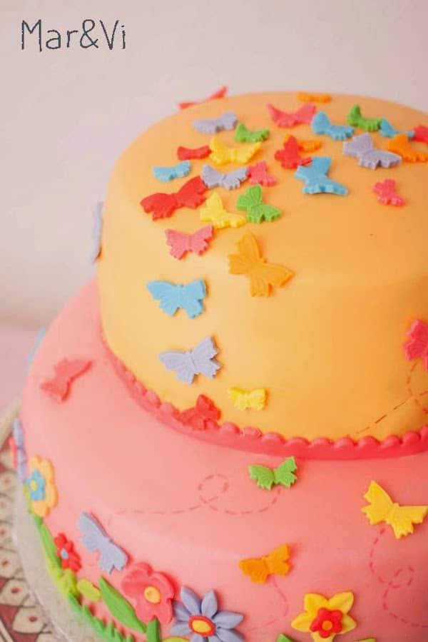 Tarta fondant de cumpleaños