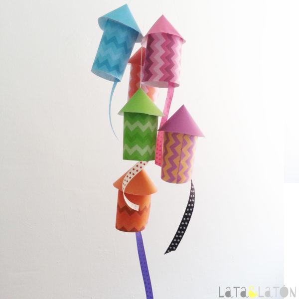 Manualidades con papel cohetes de papel - Manualidades pequeocio ...