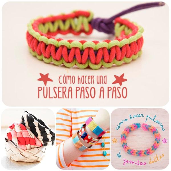Hacer pulseras una manualidad infantil divertida pequeocio - Como hacer un estor enrollable paso a paso ...