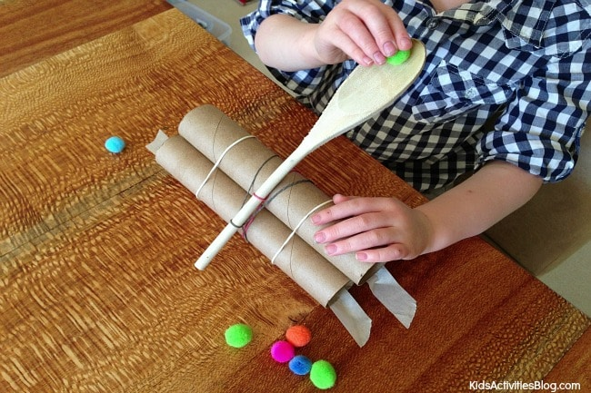 Catapultas caseras para jugar