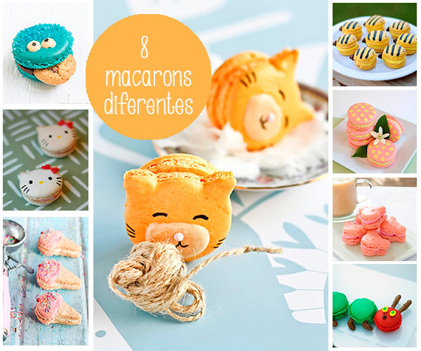 recetas para niños , macarons diferentes