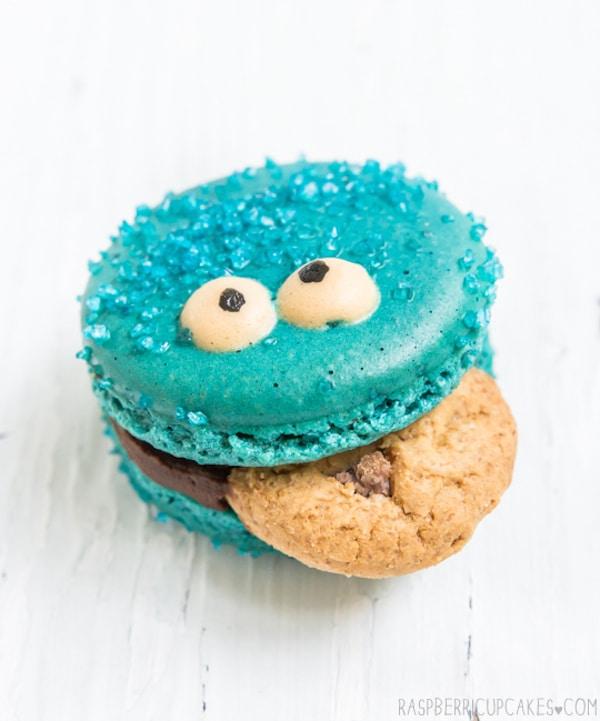 Macarons del monstruo de las galletas