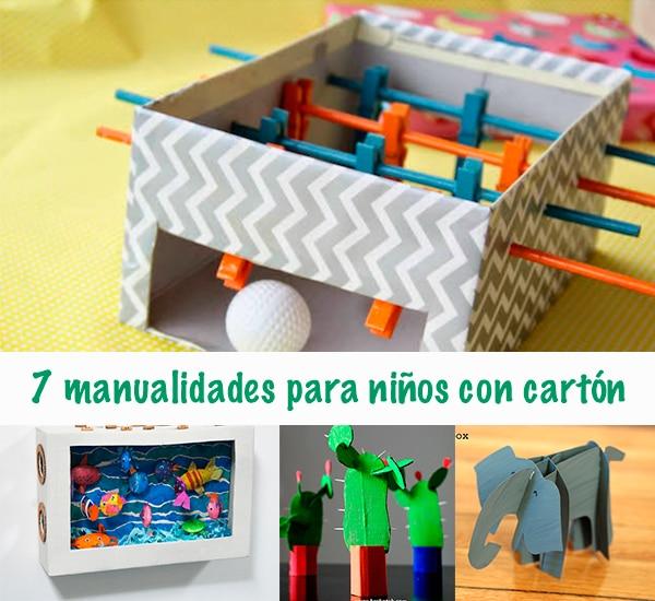 7 manualidades para ni os con cart n pequeocio - Manualidades en carton ...