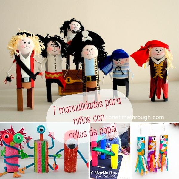 7 manualidades para ni os con rollos de papel pequeocio - Manualidades para ninos con papel ...