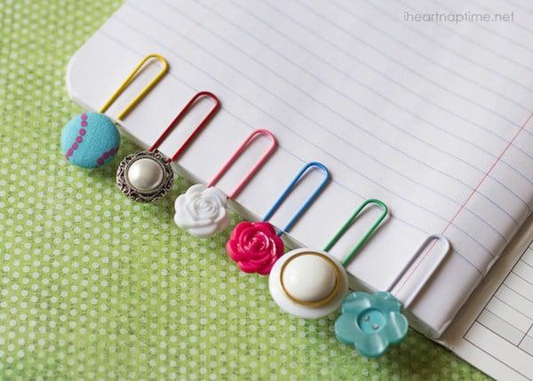 Marcapáginas con botones