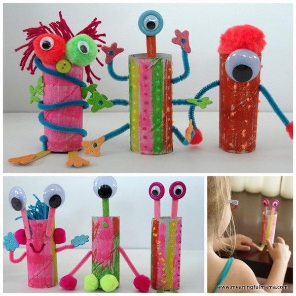 7 manualidades para ni os con rollos de papel - Rollos de papel higienico decorados ...