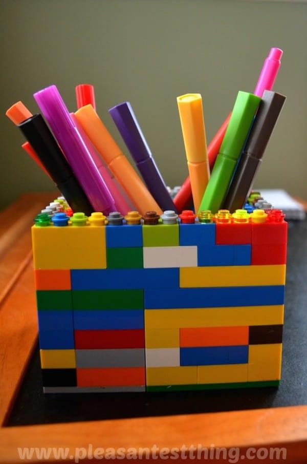 Portalápices con legos