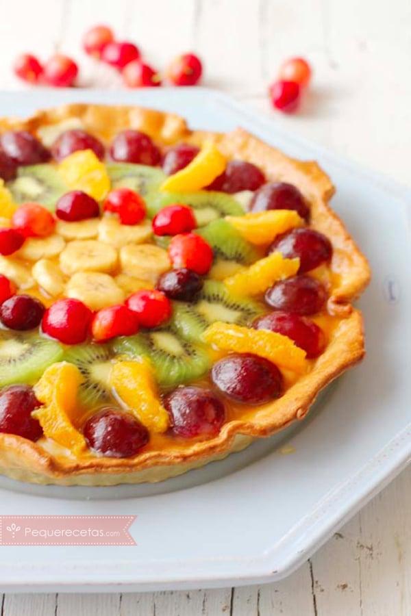 Tarta de frutas receta clásica