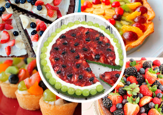 Tarta de frutas, 5 recetas fáciles