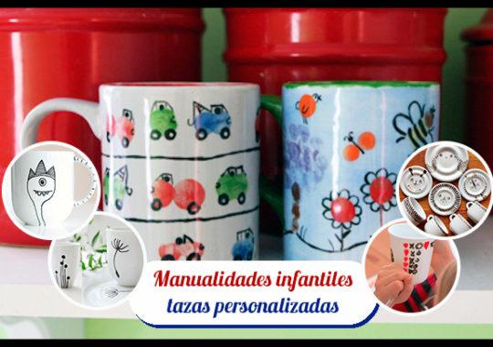 Pintar tazas con los niños