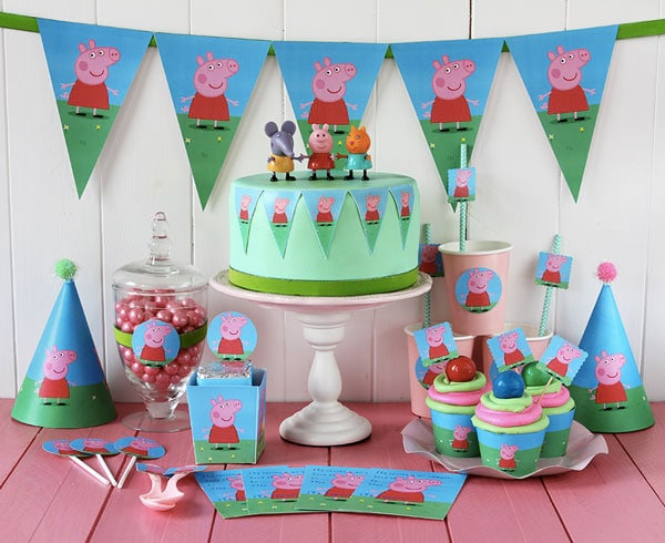 fiestas infantiles kit imprimible gratis de peppa pig