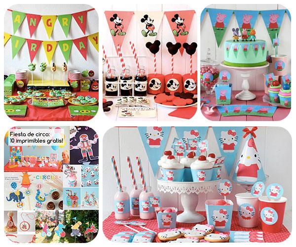 Fiestas infantiles: 5 kits imprimibles ¡gratis! | Pequeocio.com
