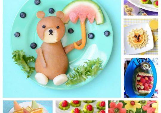 Fruta divertida para niños