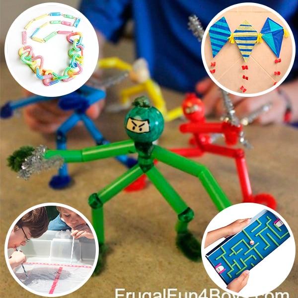 5 manualidades infantiles con pajitas pequeocio