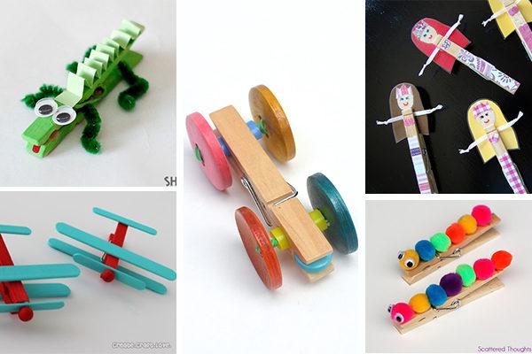 5 manualidades con pinzas ideas divertidas pequeocio - Manualidades pequeocio ...