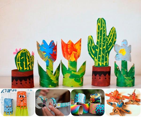 5 manualidades con rollos de papel higi nico pequeocio - Rollos de papel higienico decorados ...