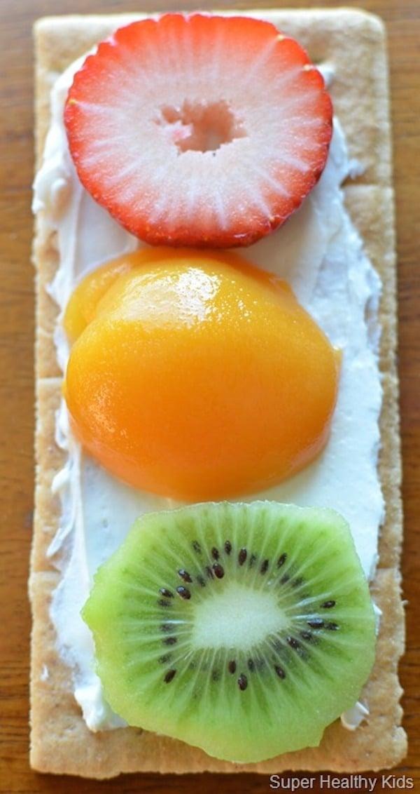 meriendas para niños con fruta