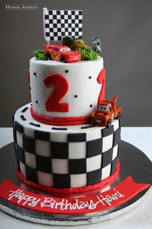 tarta de cumpleaos de cars