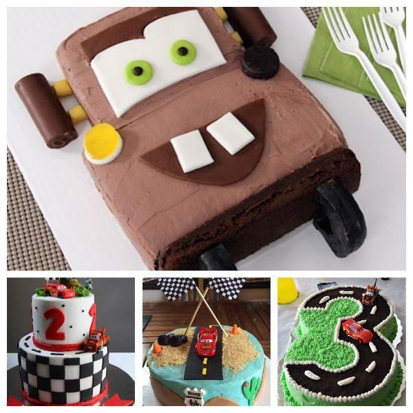 Tartas de cumpleaños fáciles de Cars
