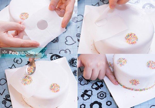 decoracion facil tarta de fondant