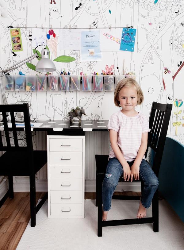 infantiles escritorio en orden