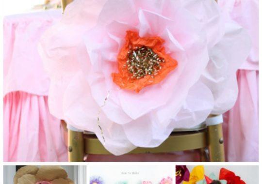 Cómo hacer flores de papel gigantes