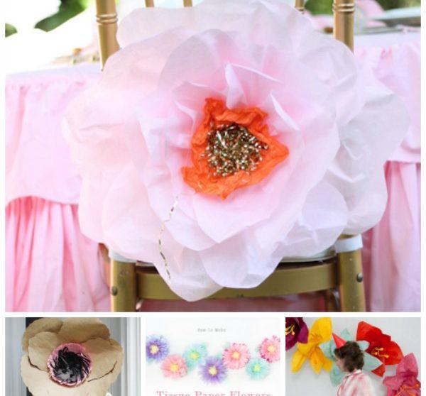 Como Hacer Flores De Papel De Seda Espectaculares Pequeociocom - Hacer-flores-con-papel