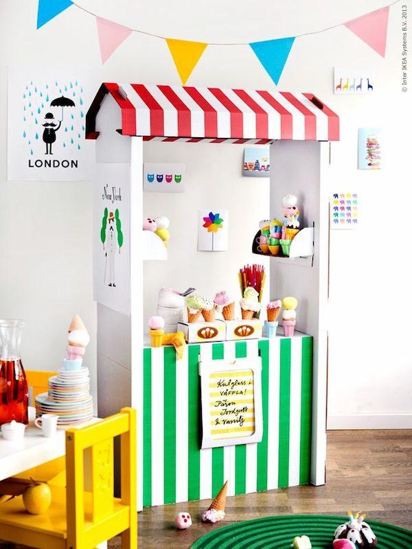 Juegos para niños, una heladería