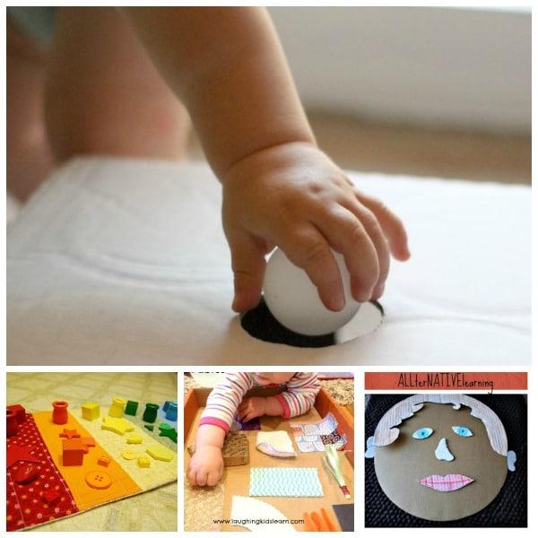 5 manualidades para bebés de juegos sensoriales | Juego