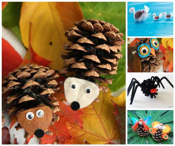 5 manualidades infantiles con pi as pequeocio - Manualidades navidad con pinas ...