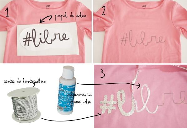 Cómo decorar camisetas de niña