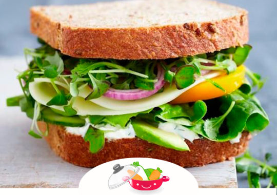 Sándwiches con verduras para niños