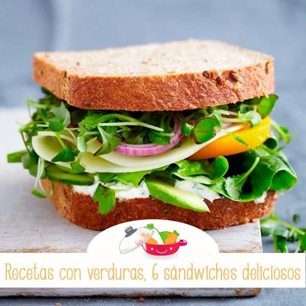 6 Sándwiches Vegetales Pequeociocom