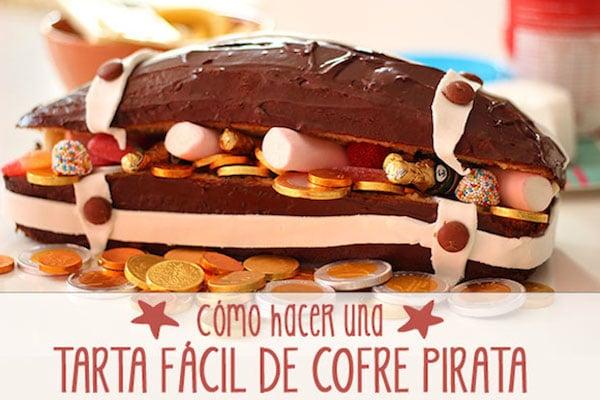 u tartas fciles de jake y los piratas tarta cofre