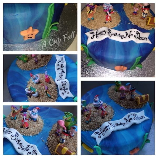 u tarta fcil de jake y los piratas de nunca jams tartas fciles para cumpleaos infantiles