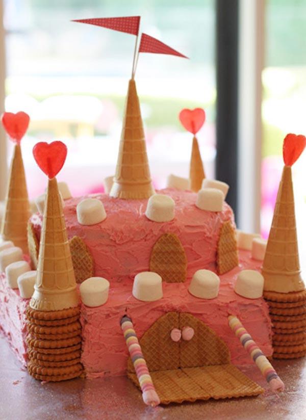 tartas de cumpleaños fáciles castillo