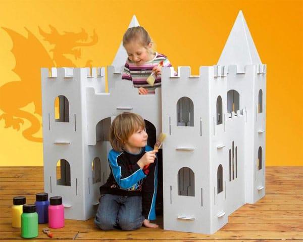 Juguetes de cartón, castillos