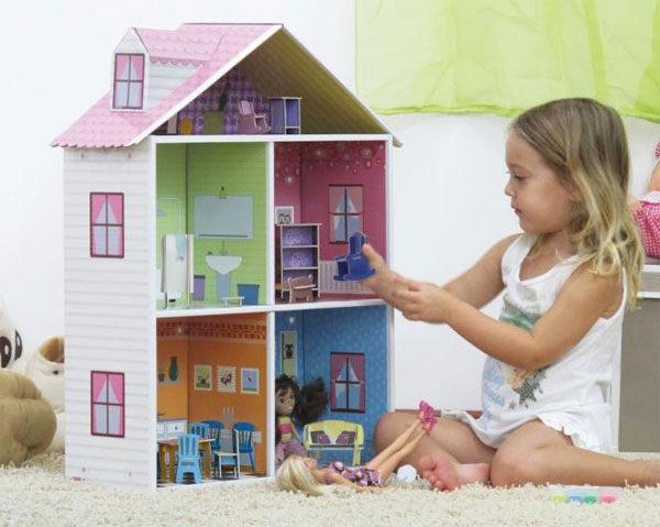 Casas de muñecas de cartón