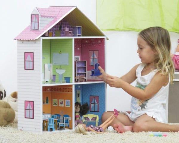 Casas de mu ecas y juguetes de cart n - Como hacer una casa de carton pequena ...