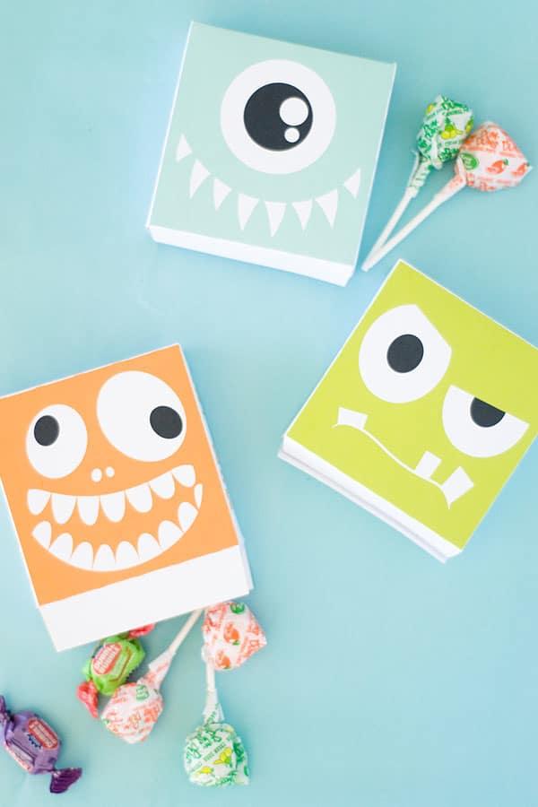 Manualidades de halloween 6 cajitas para chuches pequeocio - Cajas de madera para chuches ...