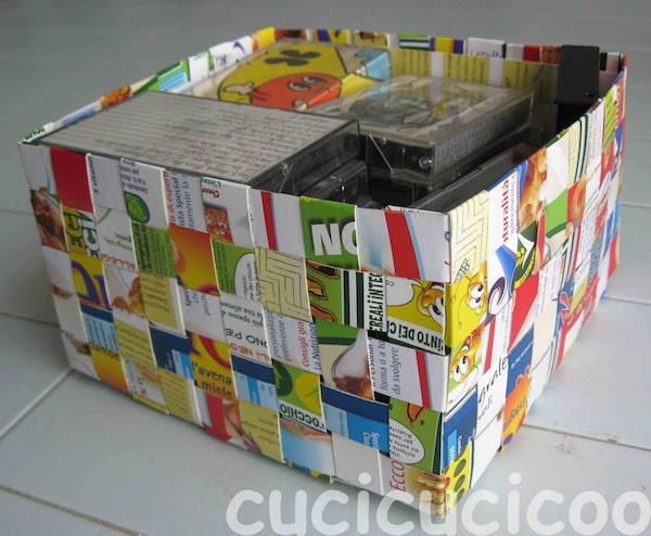 Cajas de cereales recicladas