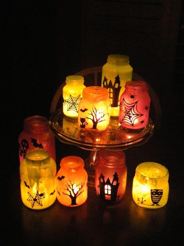 Manualidades de halloween faroles con frascos pequeocio - Manualidades adultos casa ...
