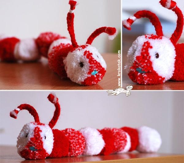 Manualidades para niños con lana