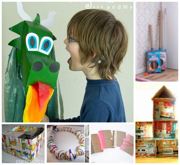 Manualidades con cart n reciclamos cajas de cereales for Cajas de carton infantiles